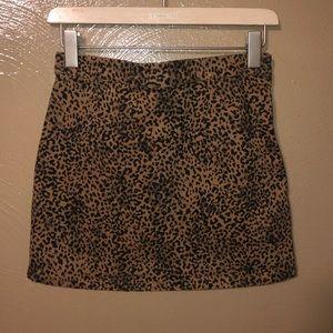 NWOT F21 Leopard Print Skirt